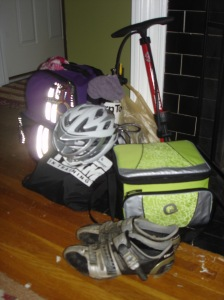 Packed and ready to race!